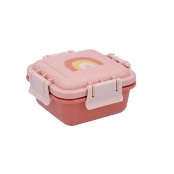 Cajita Almuerzo  Arcoíris Rosa