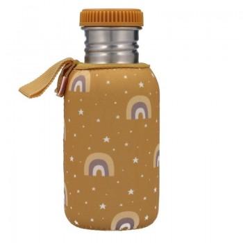 Botella Acero con Funda Arcoiris Mostaza