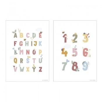 Poster Abecedario/Números Little...