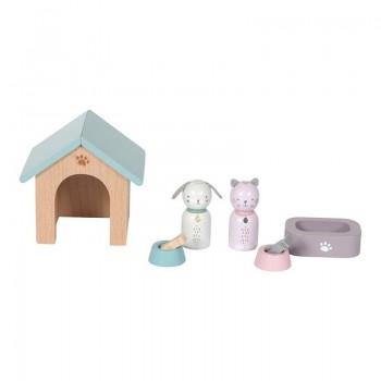 Set de Mascotas para Casa de Muñecas