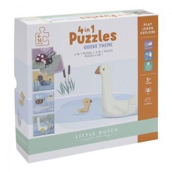 Puzzle 4 en 1 Ocas
